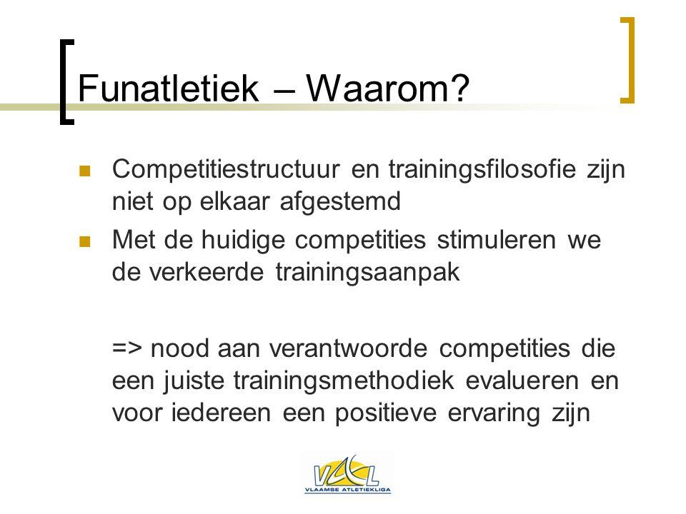 Funatletiek – Waarom Competitiestructuur en trainingsfilosofie zijn niet op elkaar afgestemd.