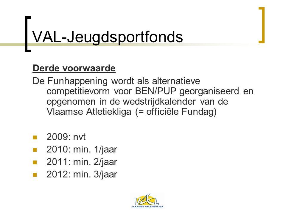 VAL-Jeugdsportfonds Derde voorwaarde