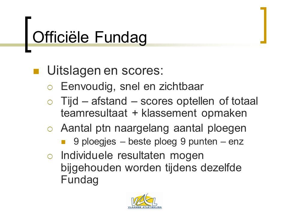 Officiële Fundag Uitslagen en scores: Eenvoudig, snel en zichtbaar