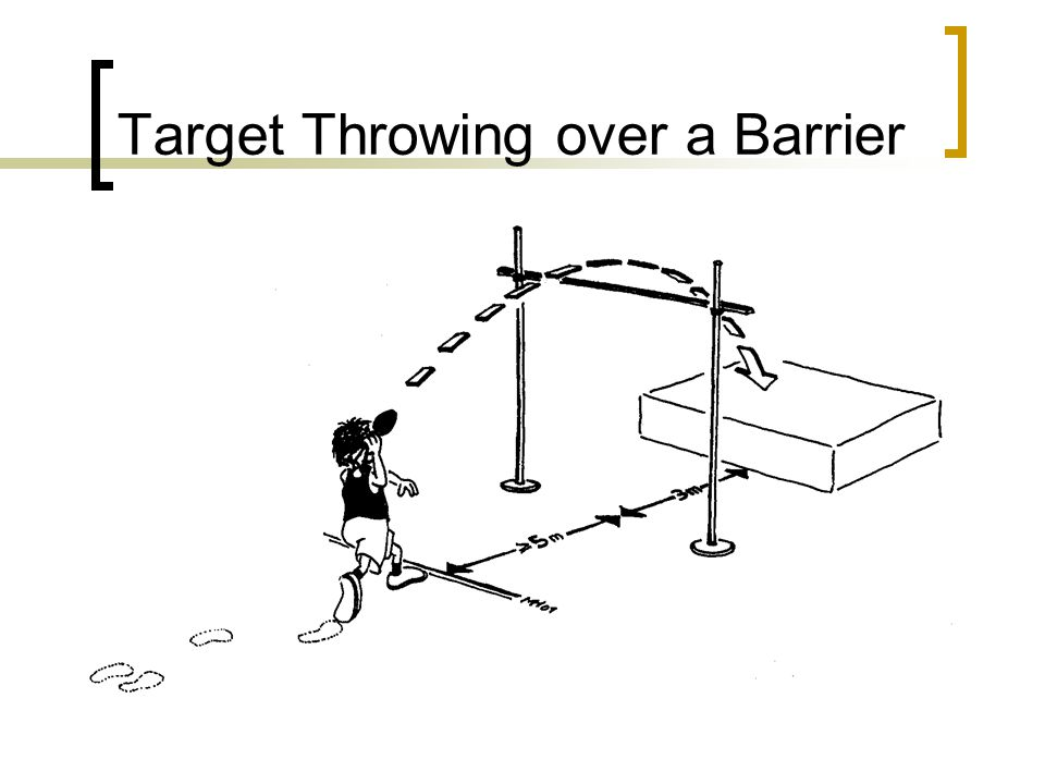 Target Throwing over a Barrier