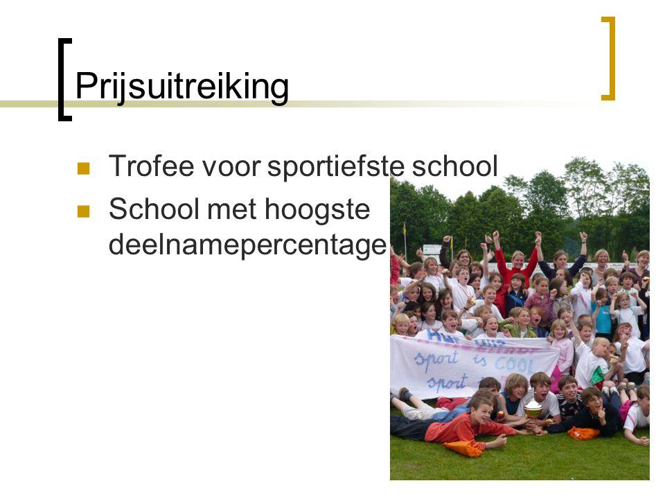 Prijsuitreiking Trofee voor sportiefste school