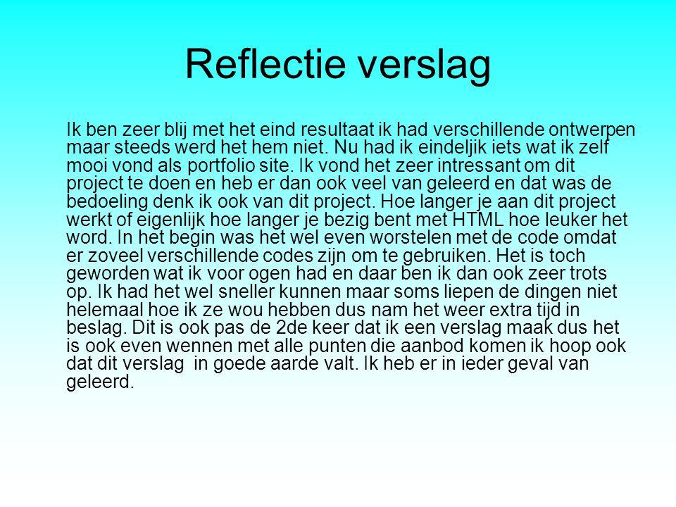 Reflectie verslag