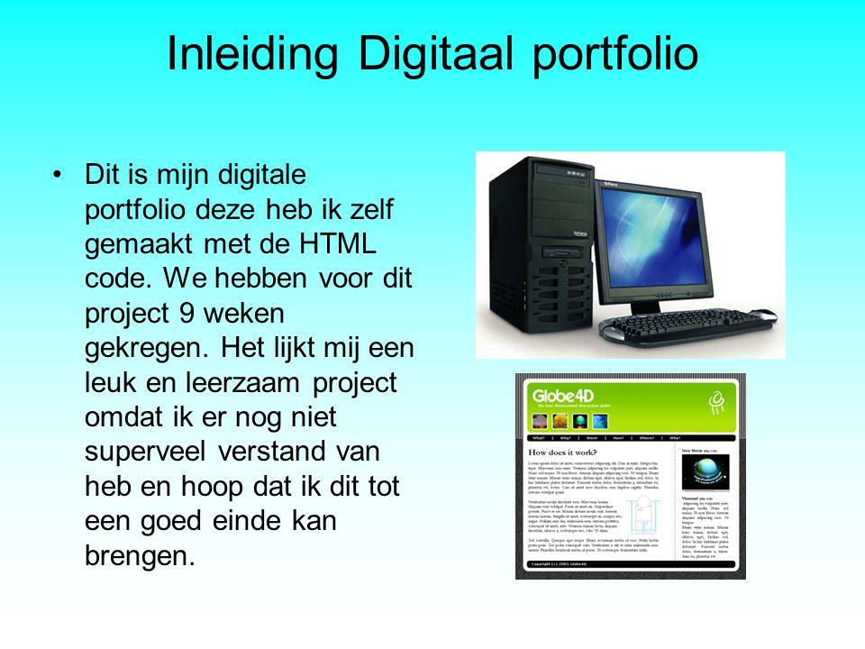 Inleiding Digitaal portfolio