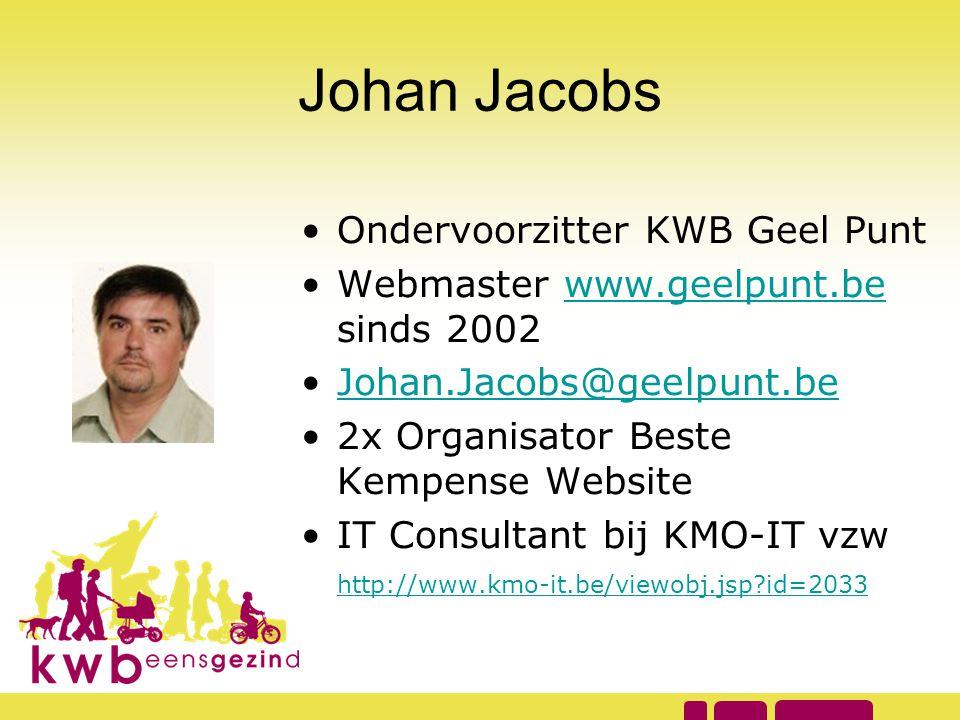 Johan Jacobs Ondervoorzitter KWB Geel Punt