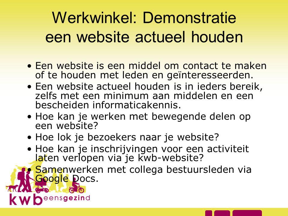 Werkwinkel: Demonstratie een website actueel houden