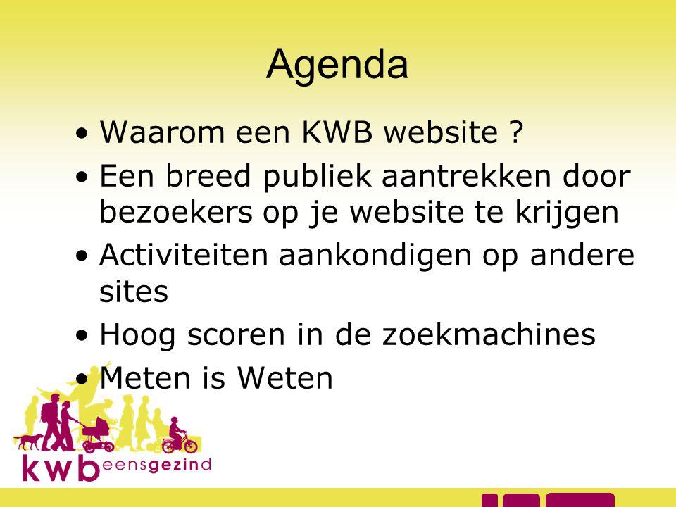 Agenda Waarom een KWB website