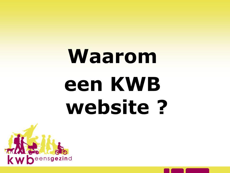Waarom een KWB website Wie heeft reeds een KWB website