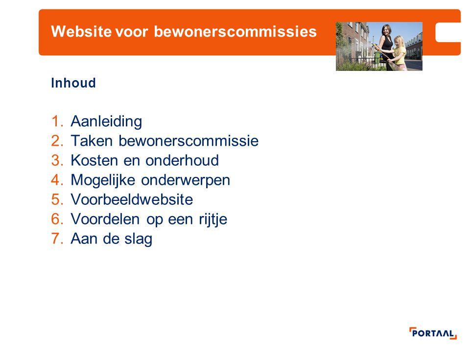 Website voor bewonerscommissies