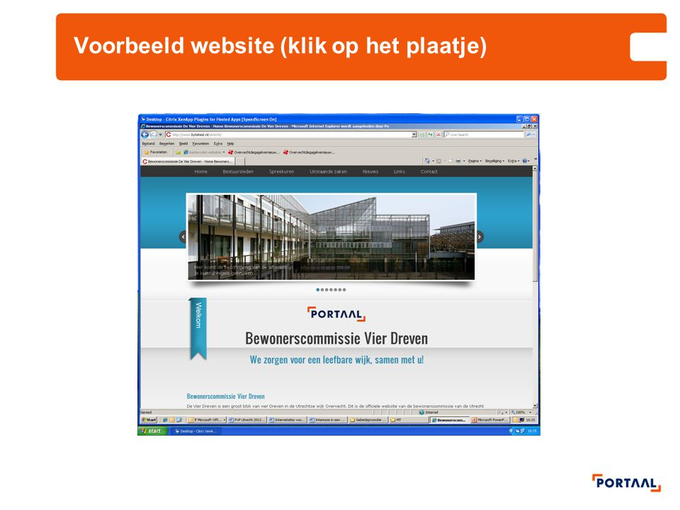 Voorbeeld website (klik op het plaatje)