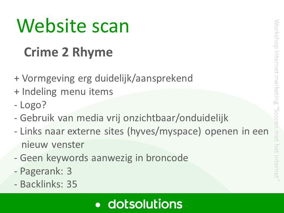 Website scan Crime 2 Rhyme