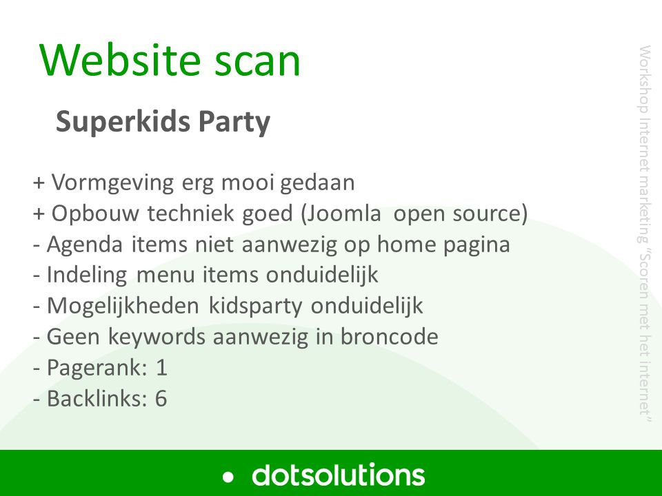 Website scan Superkids Party