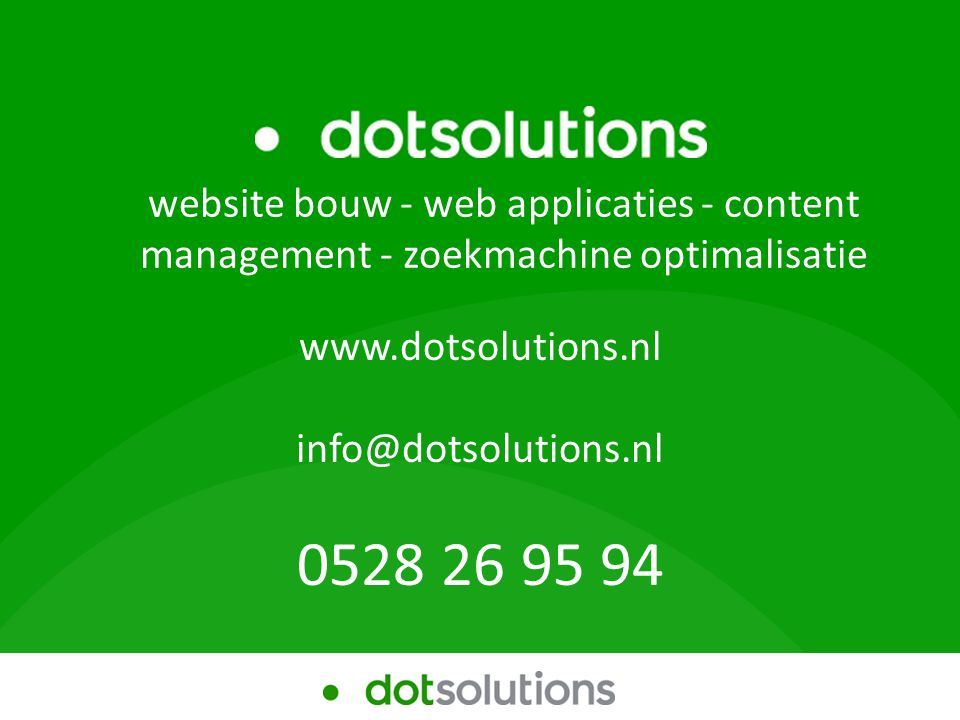 Workshop Zoekmachine optimalisatie