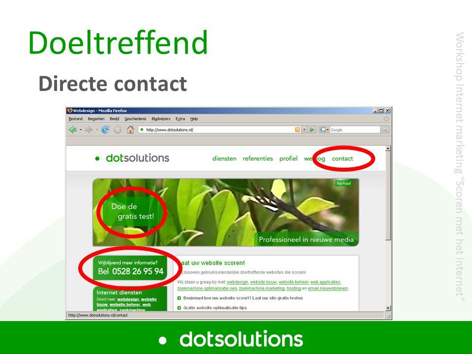Doeltreffend Directe contact
