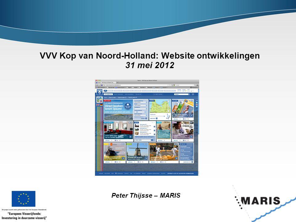 VVV Kop van Noord-Holland: Website ontwikkelingen 31 mei 2012