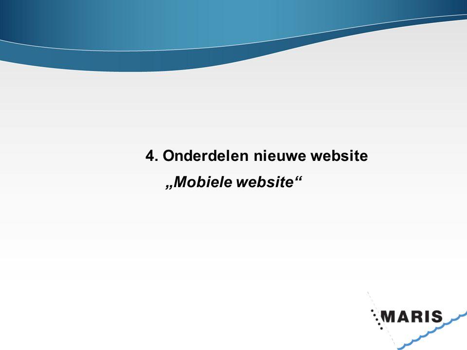 4. Onderdelen nieuwe website