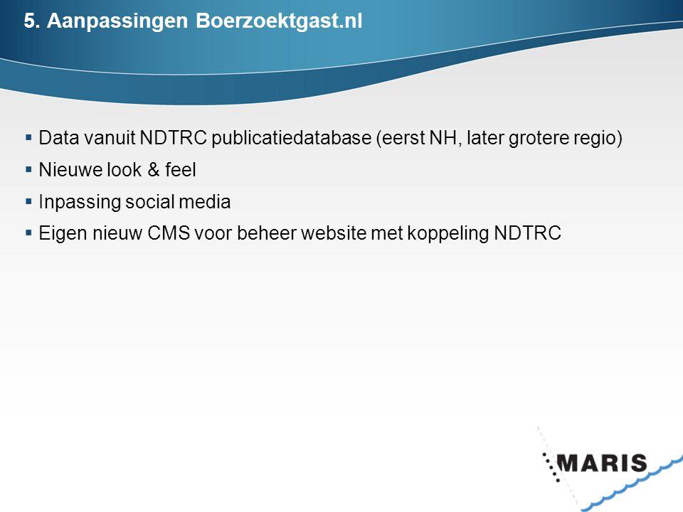5. Aanpassingen Boerzoektgast.nl
