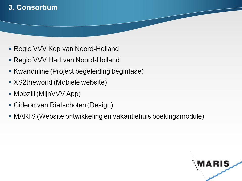3. Consortium Regio VVV Kop van Noord-Holland