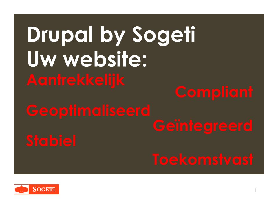 Drupal by Sogeti Uw website: