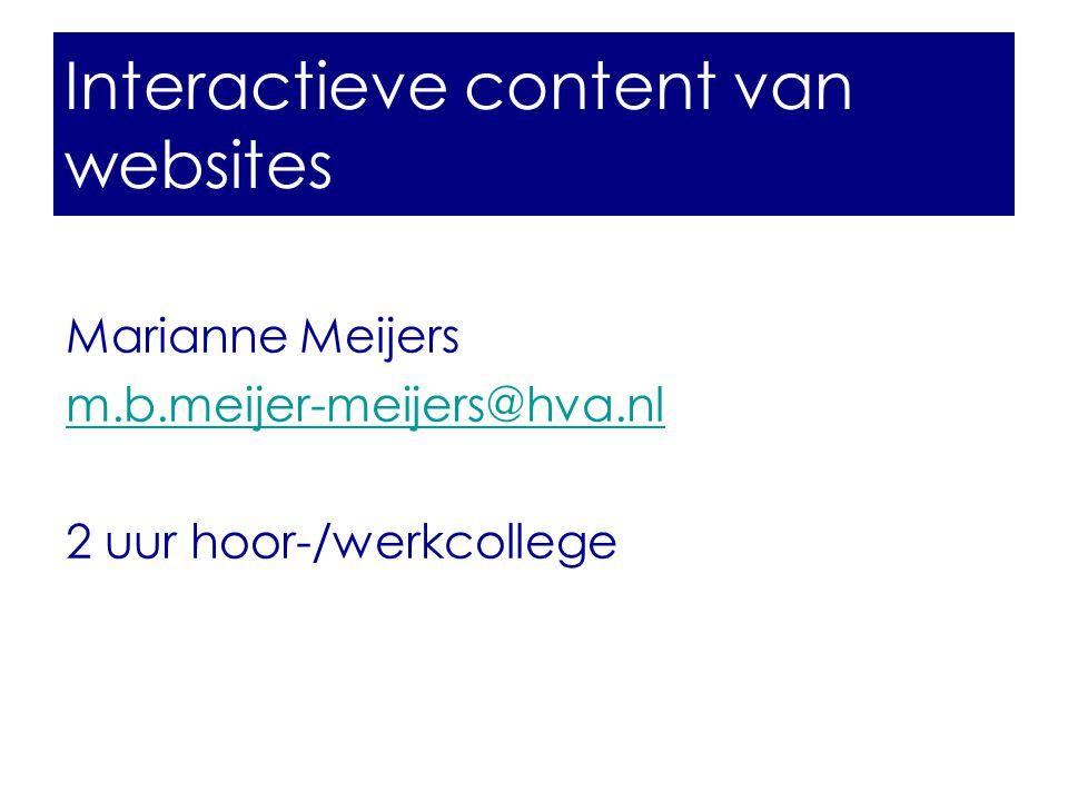 Interactieve content van websites