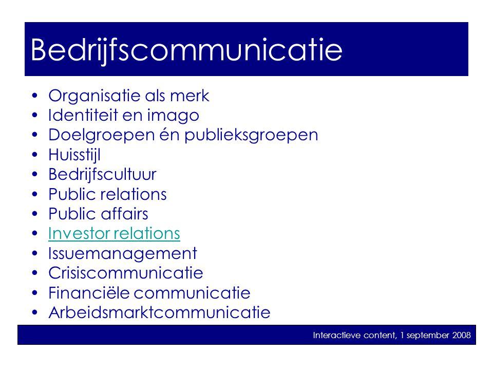 bedrijfscommunicatie