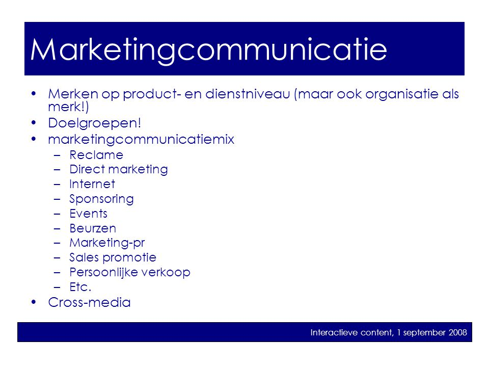 marketingcommunicatie