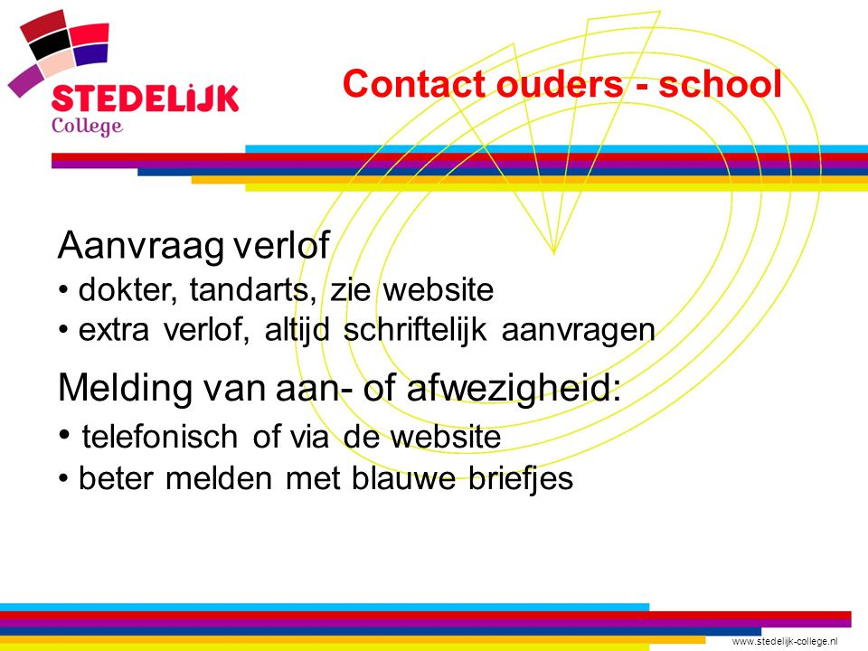 Contact ouders - school