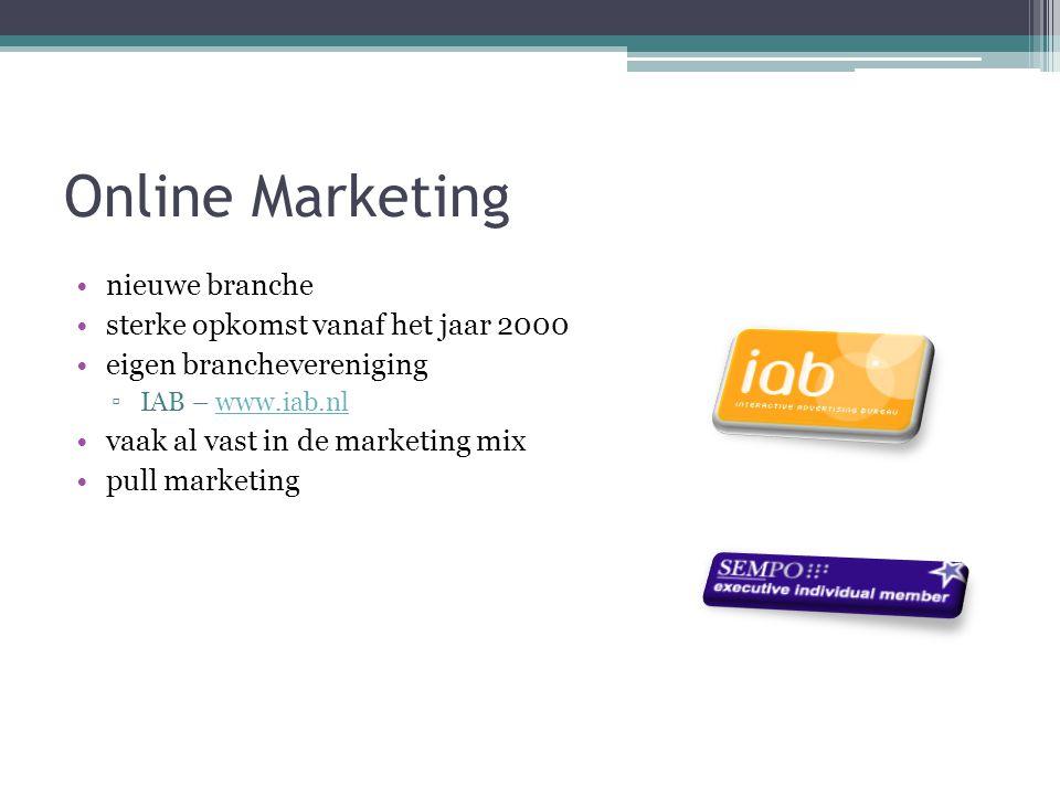 Online Marketing nieuwe branche sterke opkomst vanaf het jaar 2000