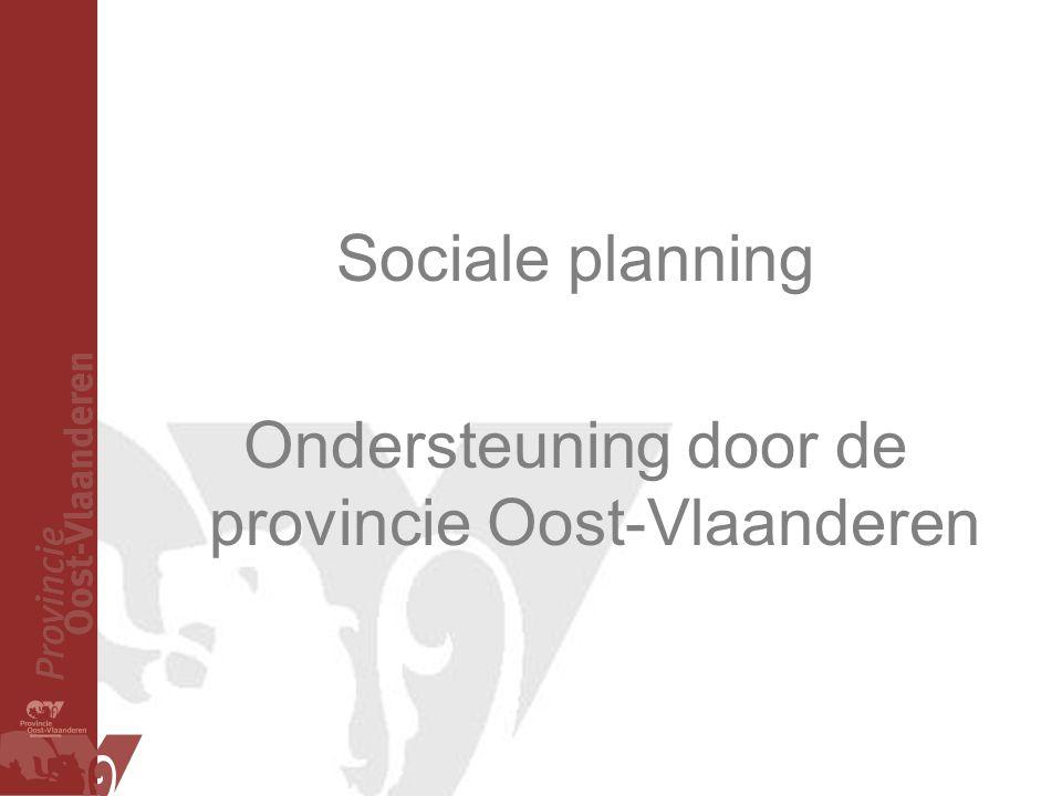 Ondersteuning door de provincie Oost-Vlaanderen