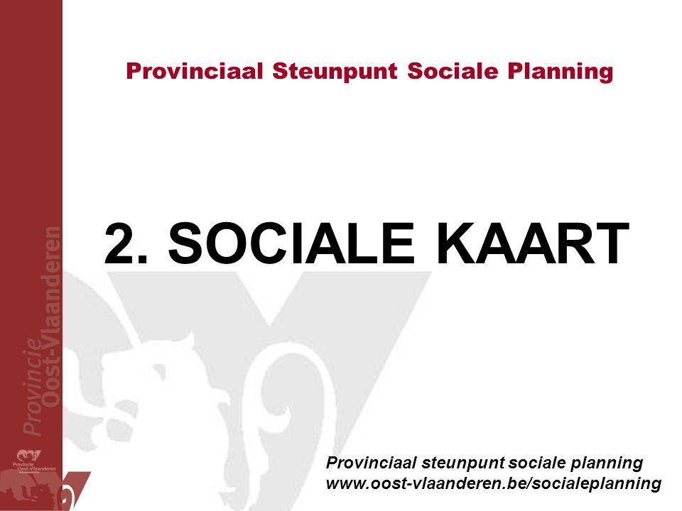 Provinciaal Steunpunt Sociale Planning