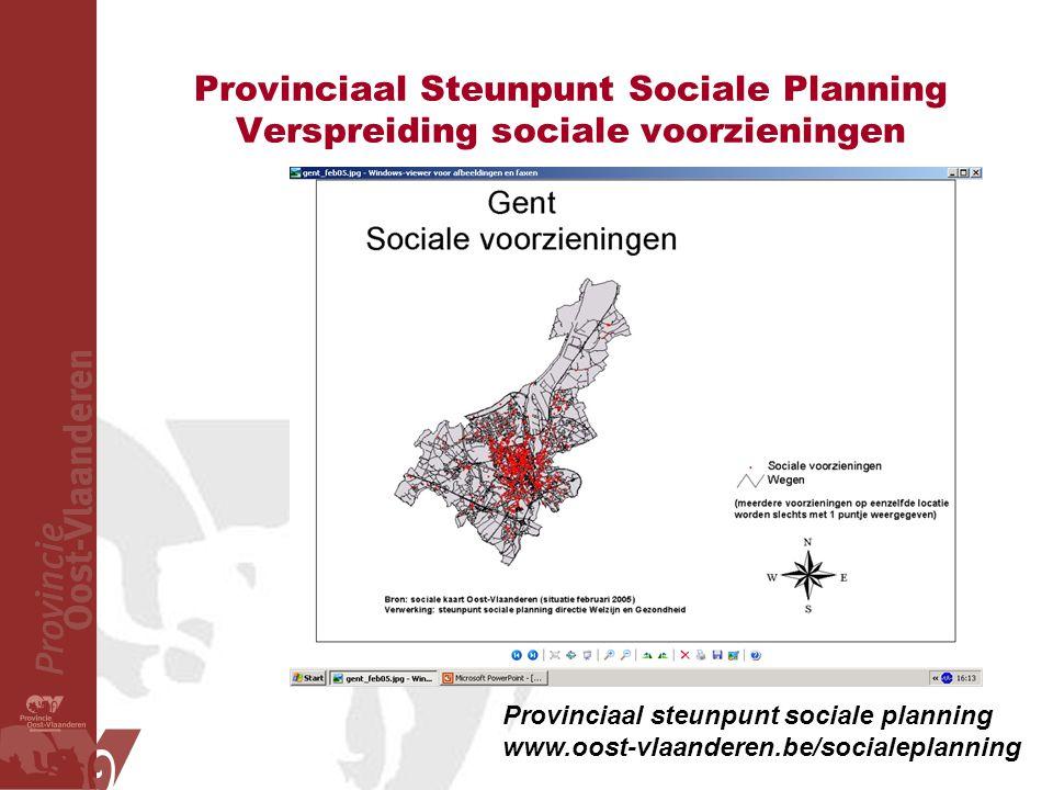 Provinciaal Steunpunt Sociale Planning Verspreiding sociale voorzieningen