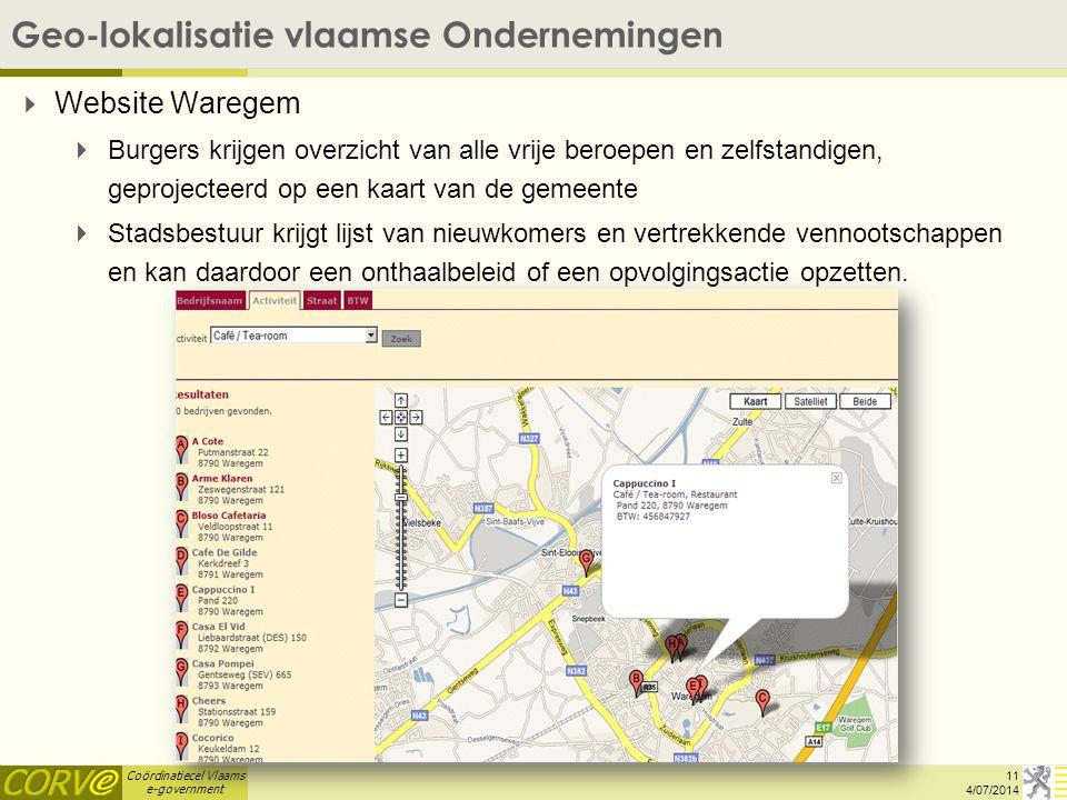 Geo-lokalisatie vlaamse Ondernemingen