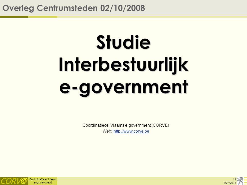 Studie Interbestuurlijk e-government