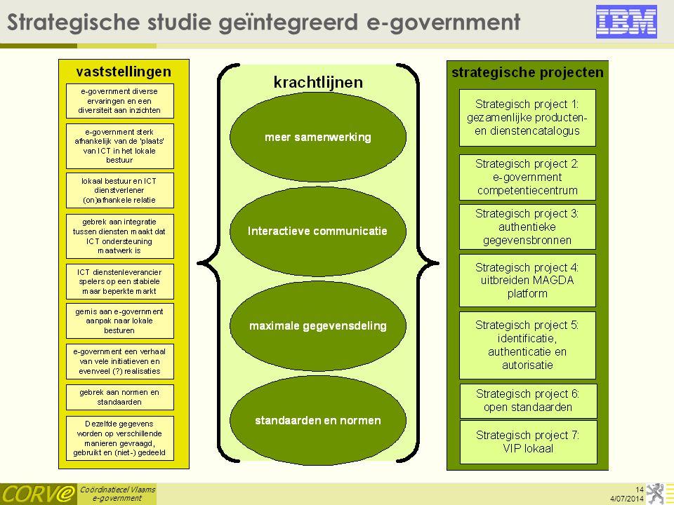 Strategische studie geïntegreerd e-government