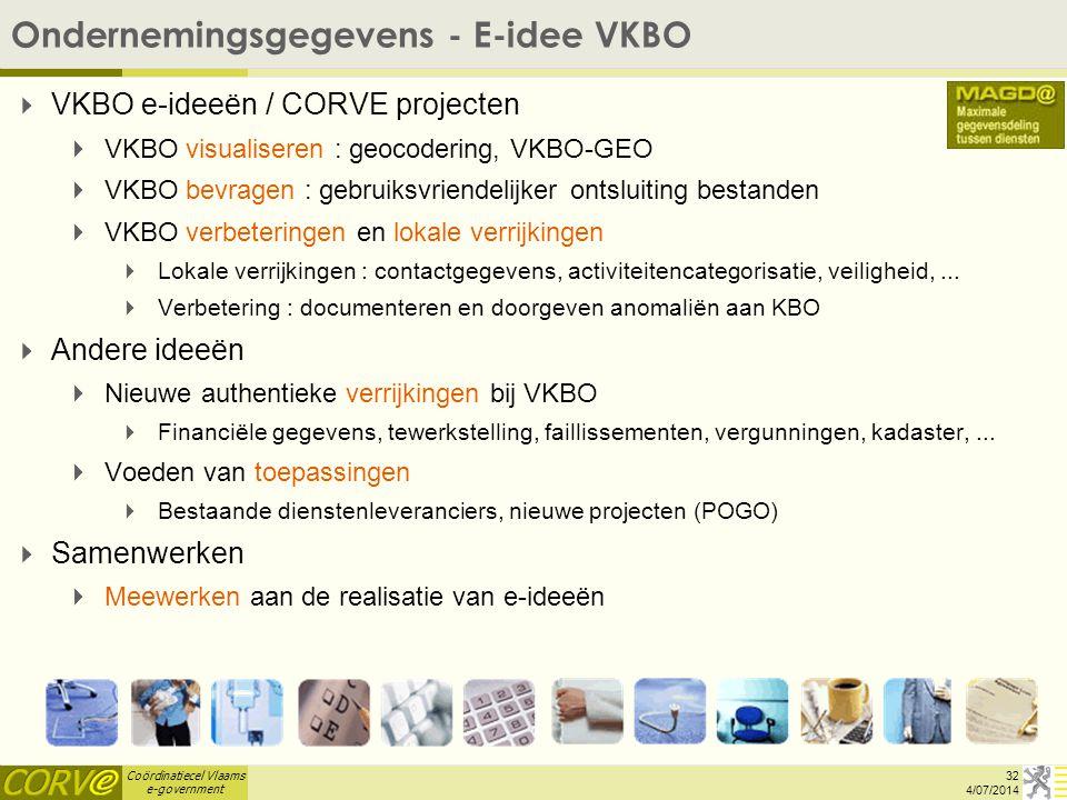 Ondernemingsgegevens - E-idee VKBO