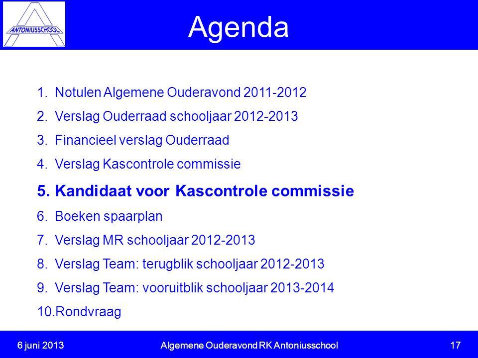 6 juni 2013 Algemene Ouderavond RK Antoniusschool 17