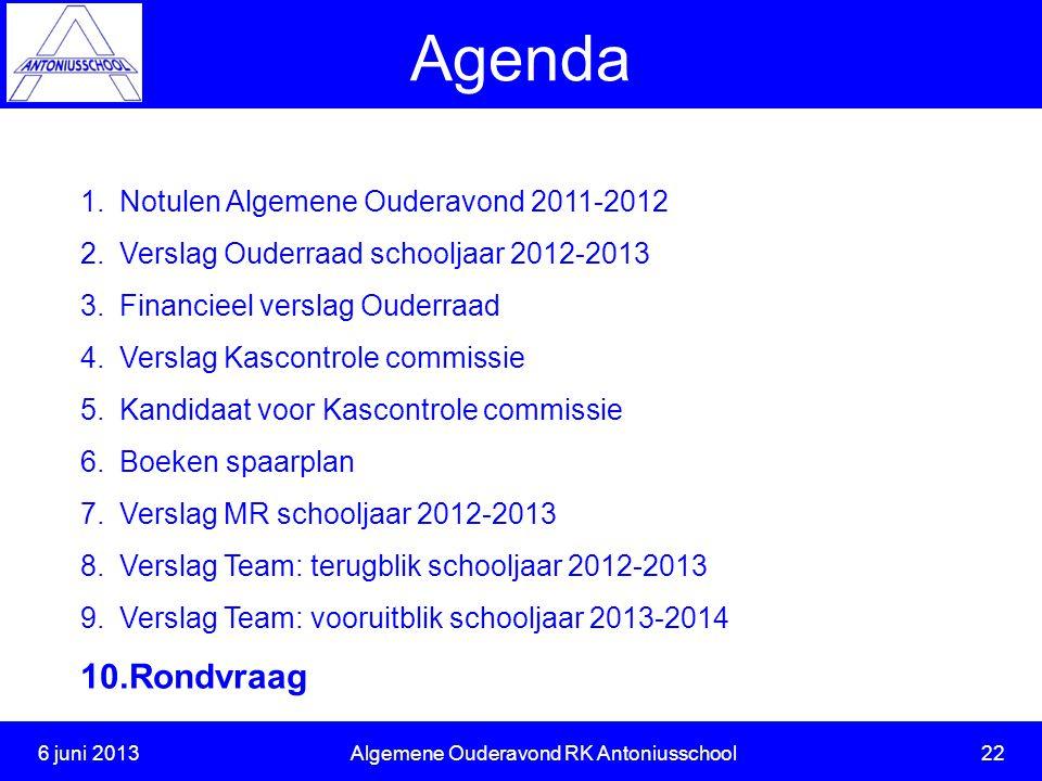 6 juni 2013 Algemene Ouderavond RK Antoniusschool 22