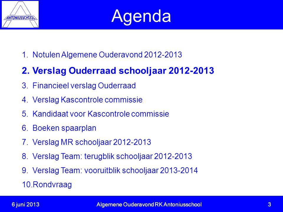 6 juni 2013 Algemene Ouderavond RK Antoniusschool 3