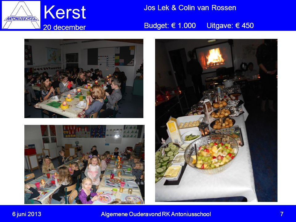 6 juni 2013 Algemene Ouderavond RK Antoniusschool 7