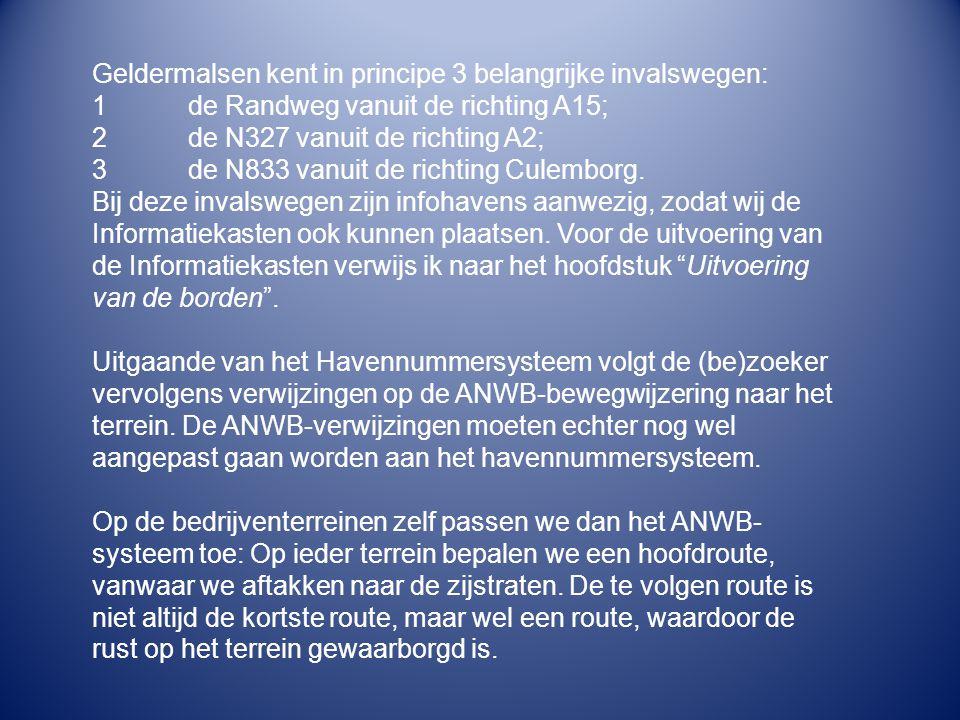 Geldermalsen kent in principe 3 belangrijke invalswegen:
