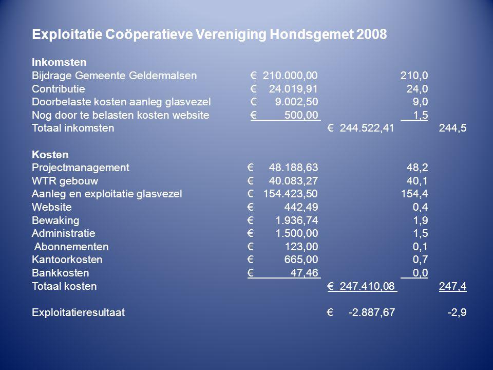 Exploitatie Coöperatieve Vereniging Hondsgemet 2008
