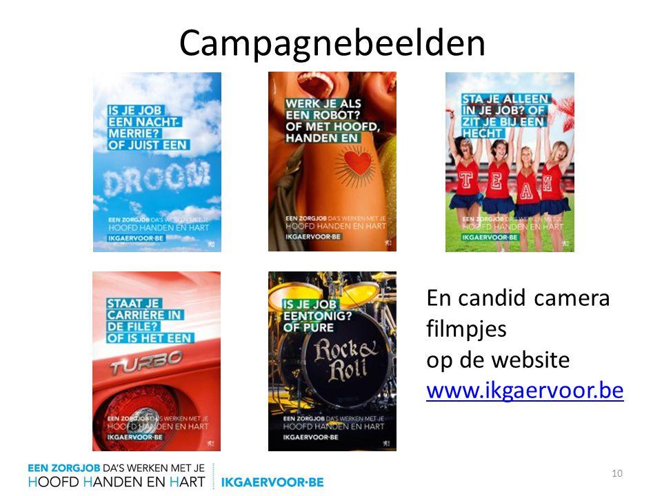 Campagnebeelden En candid camera filmpjes op de website