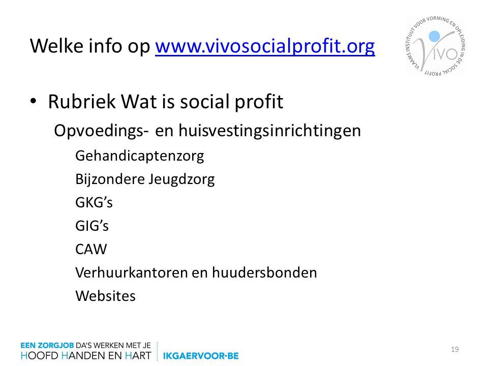 Welke info op www.vivosocialprofit.org