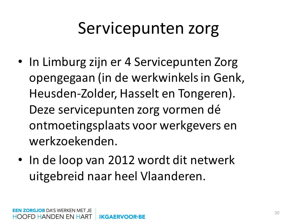Servicepunten zorg