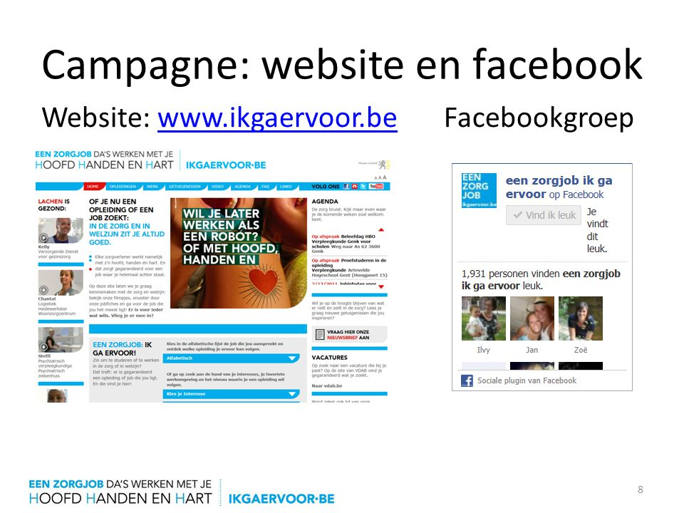 Campagne: website en facebook