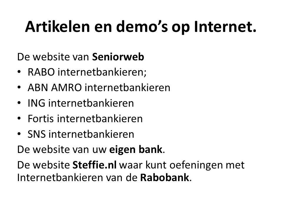 Artikelen en demo's op Internet.