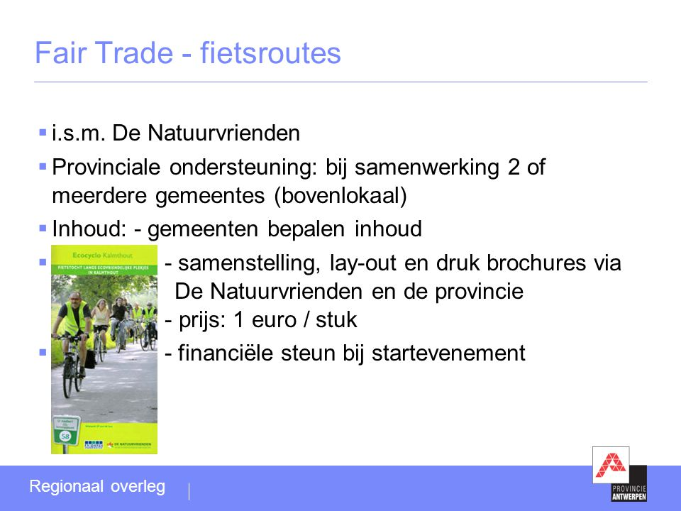 Fair Trade - fietsroutes