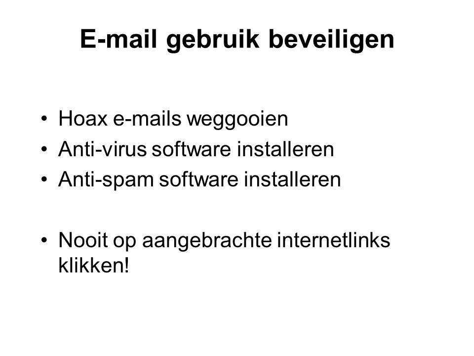 E-mail gebruik beveiligen