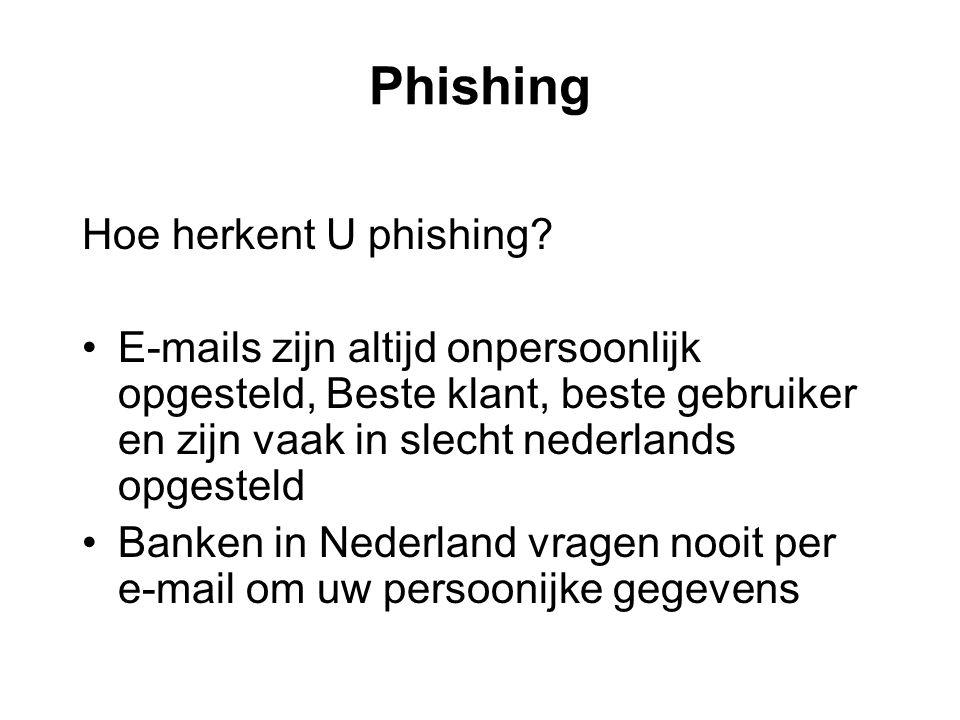 Phishing Hoe herkent U phishing