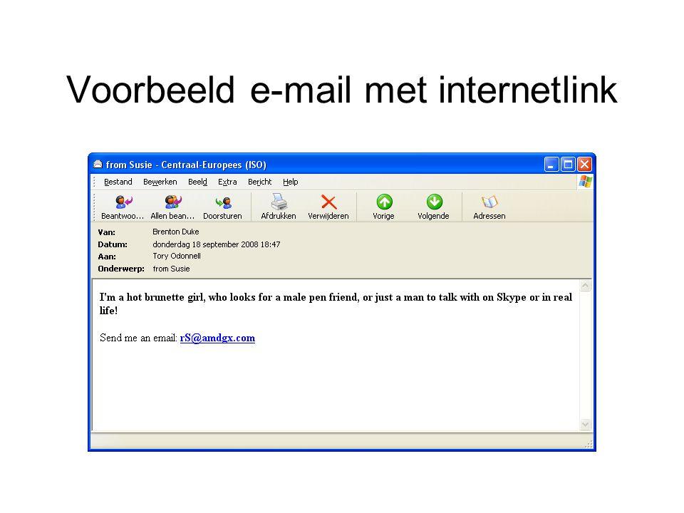 Voorbeeld e-mail met internetlink