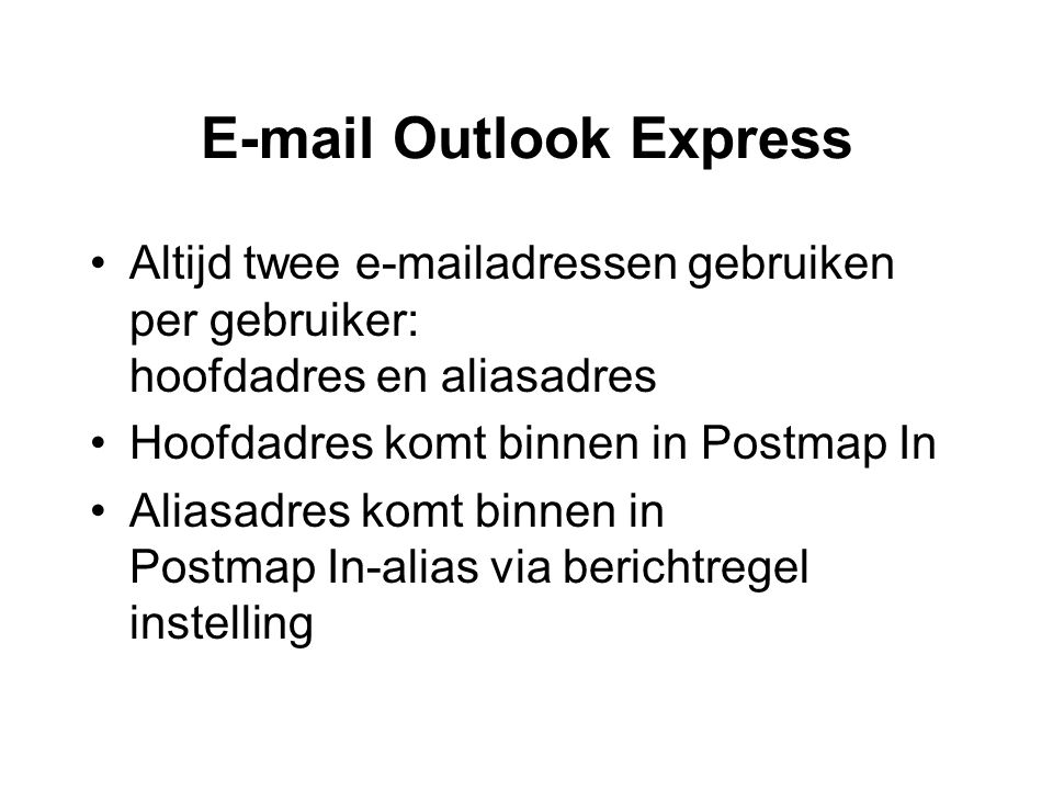 E-mail Outlook Express